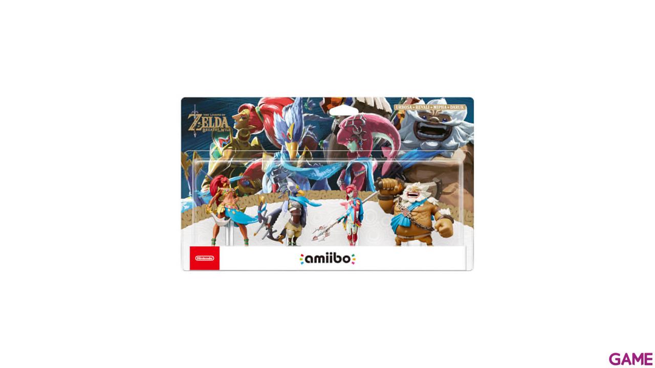 Pack 4 amiibo Zelda BOTW - Daruk, Mipha, Revali y Urbosa
