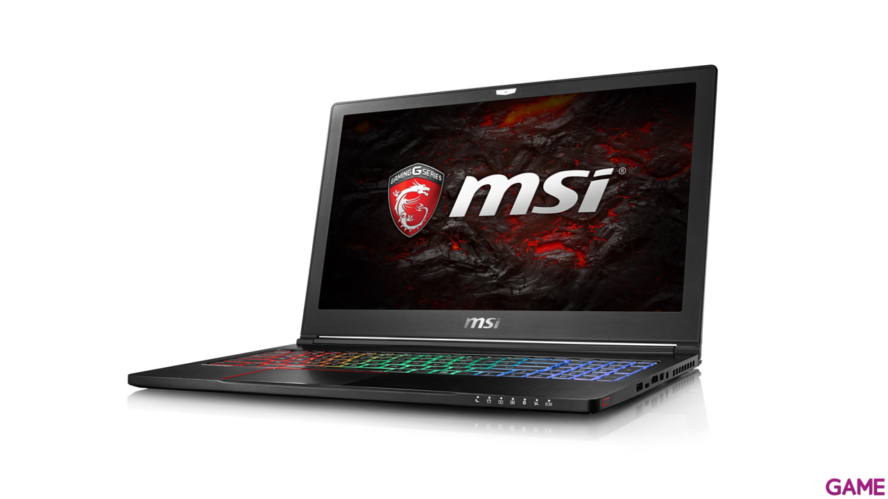 MSI GS63 7RE-047ES - i7-7700 - GTX 1050Ti - 16GB - 1TB HDD + 256GB SSD - 15.6'' - W10 - Stealth Pro