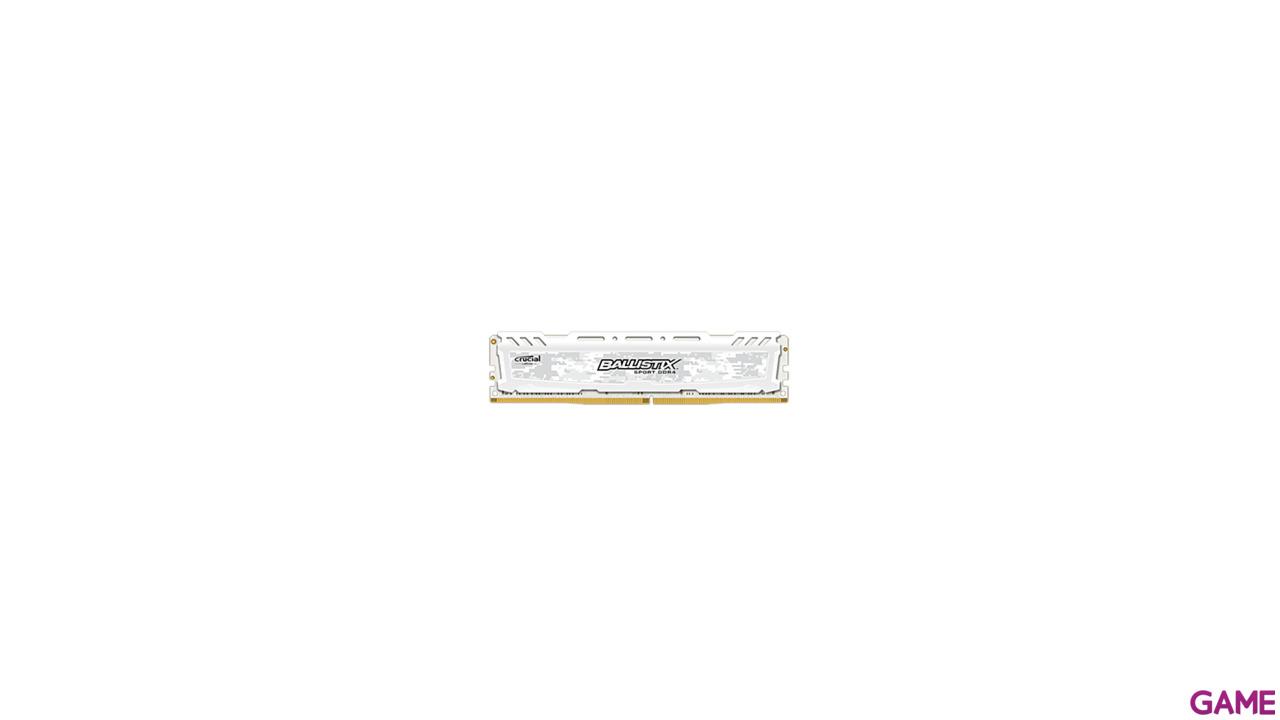 Crucial Ballistix Sport LT DDR4 4GB 2400Mhz - Blanca