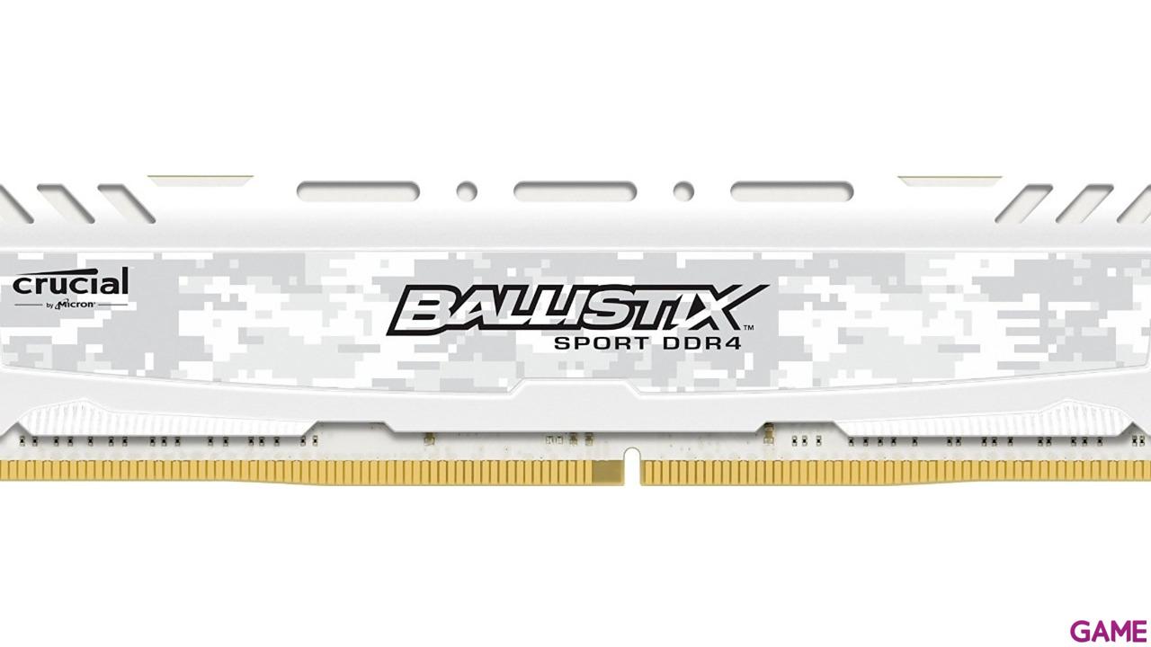 Crucial Ballistix Sport LT DDR4 8GB 2400Mhz - Blanca