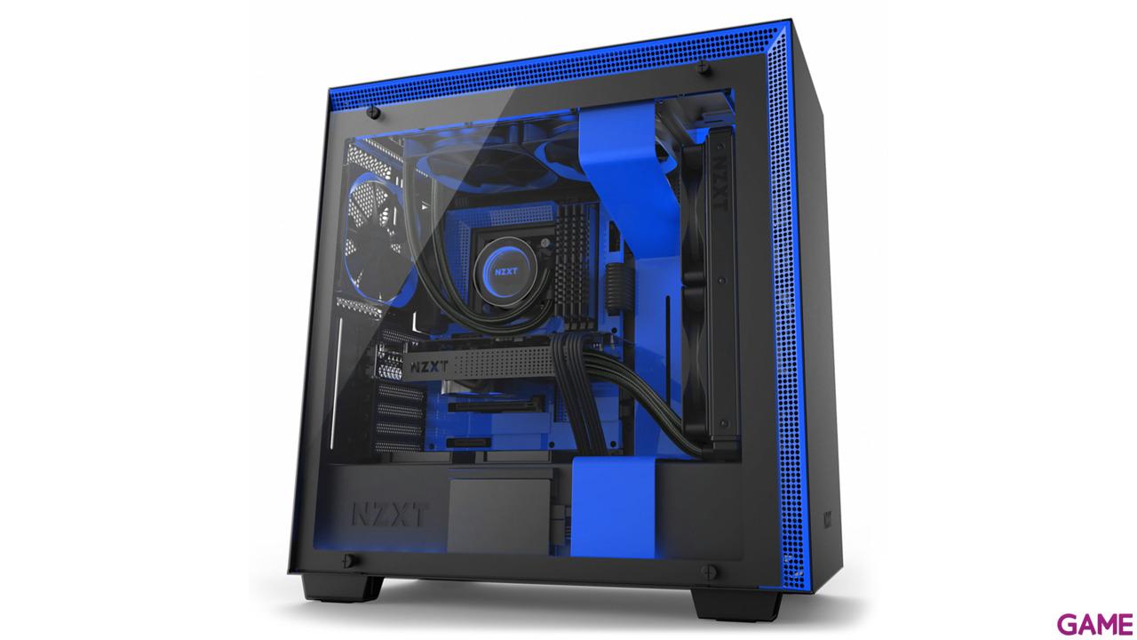 NZXT H700i Negra/Azul RGB - Cristal Templado - ATX Mid Tower