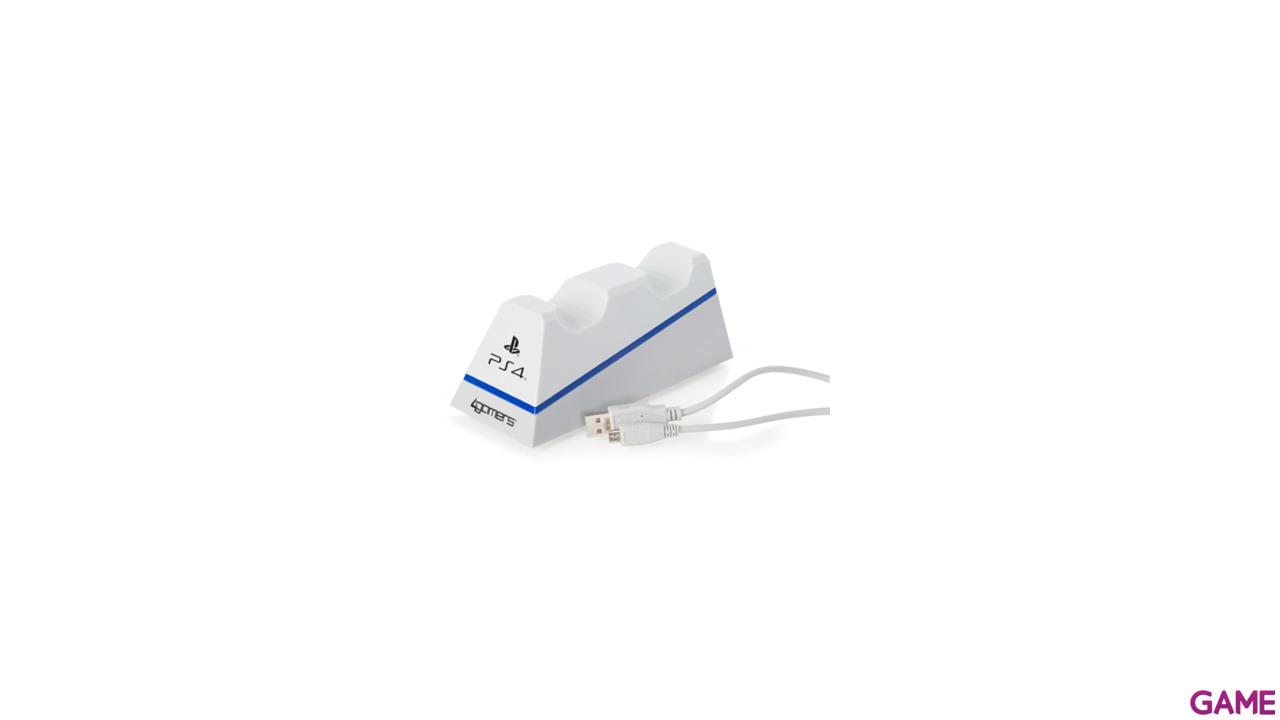 Cargador Dual Mandos 4Gamers Blanco -Licencia Oficial-