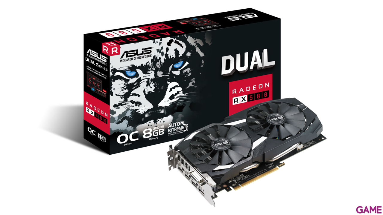 Asus Dual Radeon RX 580 OC Gaming 8GB GDDR5