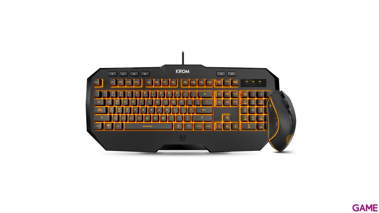 KROM kodex Kit Teclado+Ratón - Pack Gaming