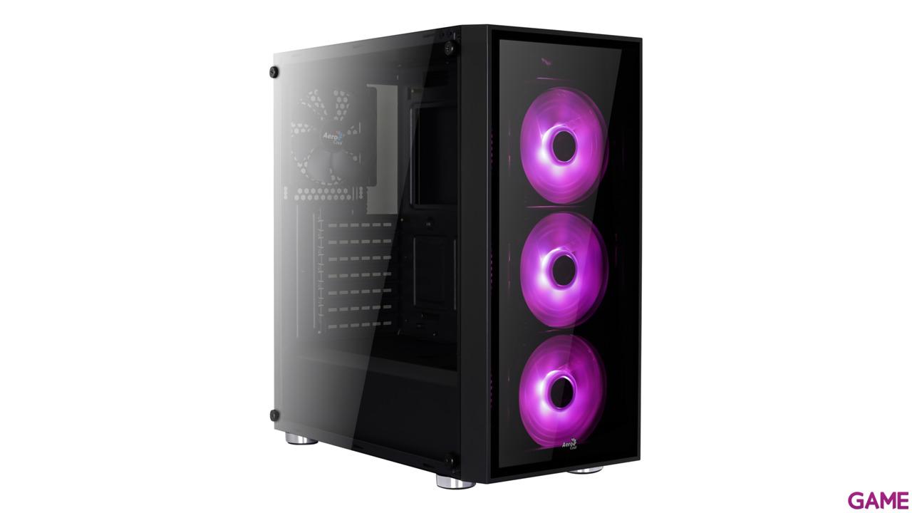 Aerocool Quartz Negra - RGB - Cristal Templado - ATX Mid Tower