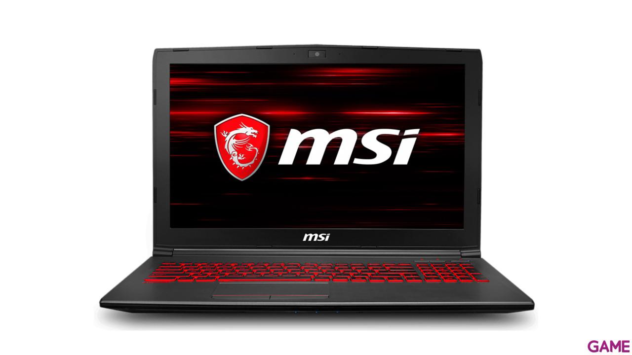 "MSI GV62 8RD-011XES I7-8750HQ-GTX 1050TI 4GB-8GB-1TB + 256 SSD-15,6""- FDOS"