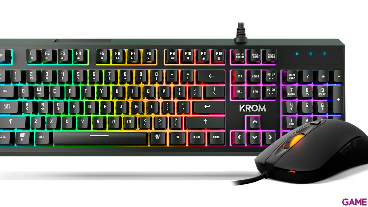KROM Kaleido Teclado+Ratón RGB - Pack Gaming