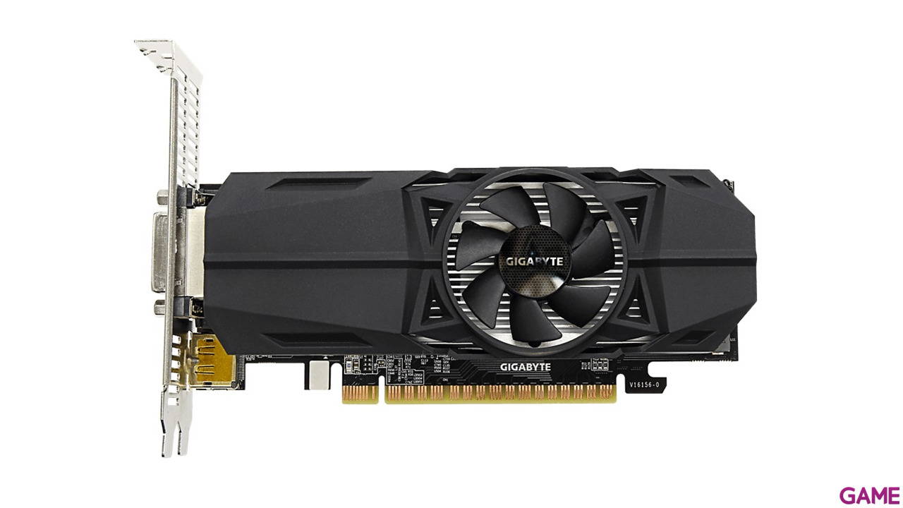 GIGABYTE GeForce GTX 1050 OC Perfil Bajo 2GB GDDR5 - Tarjeta Gráfica Gaming