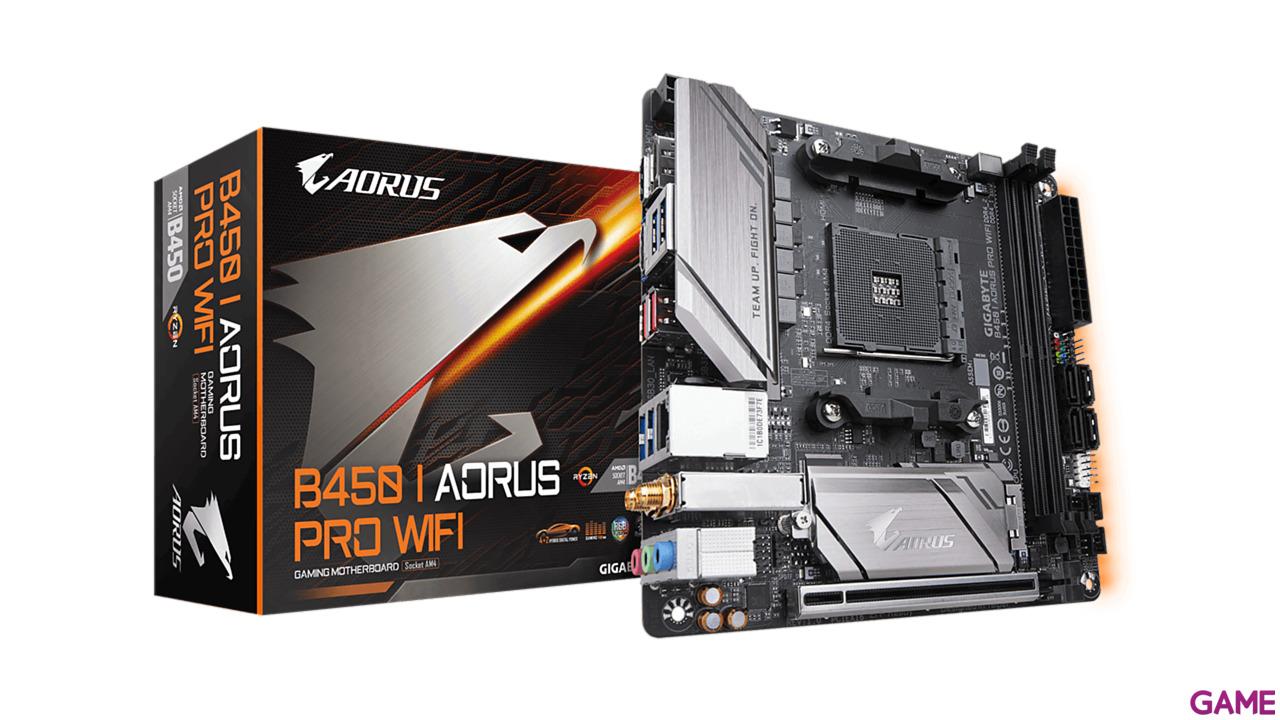 GIGABYTE B450 I AORUS PRO WiFi - Placa Base Mini ITX AM4