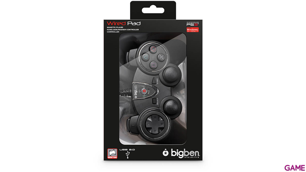 Controller con Cable BigBen PS3/PC Tilt Sensor