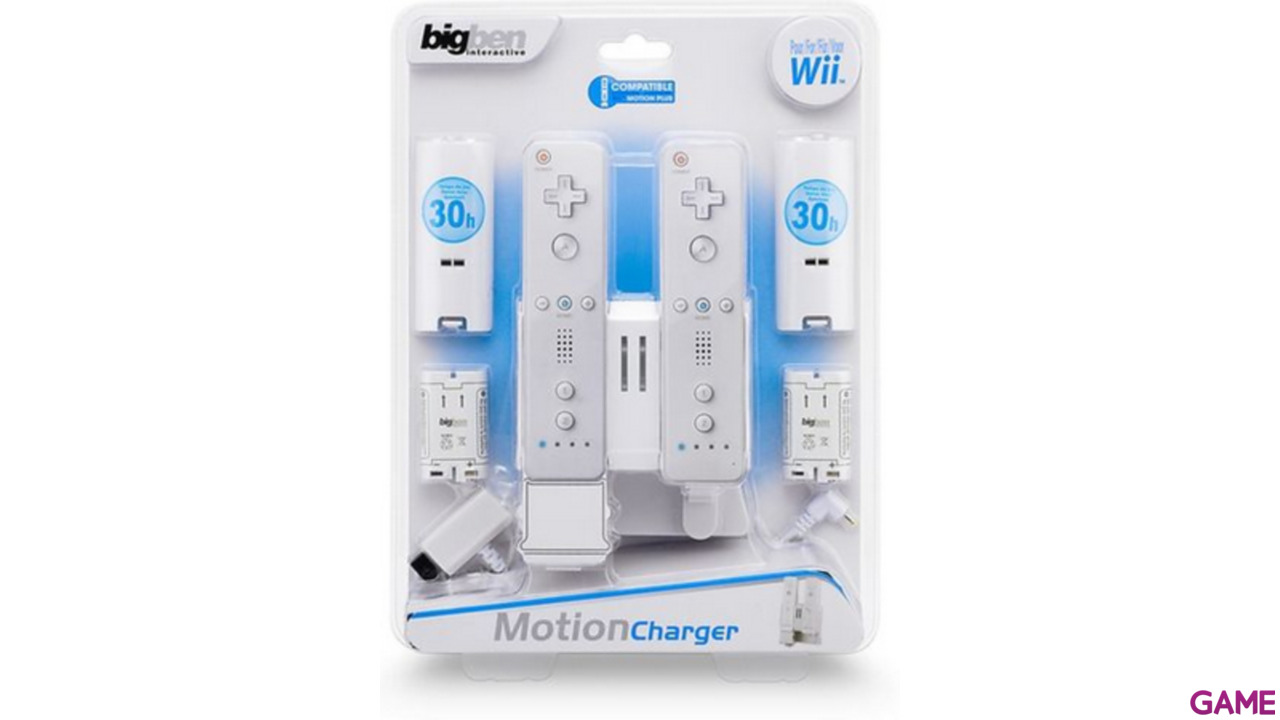 Base Carga 2 Wiimote + 2 Baterias compatible Motion Plus