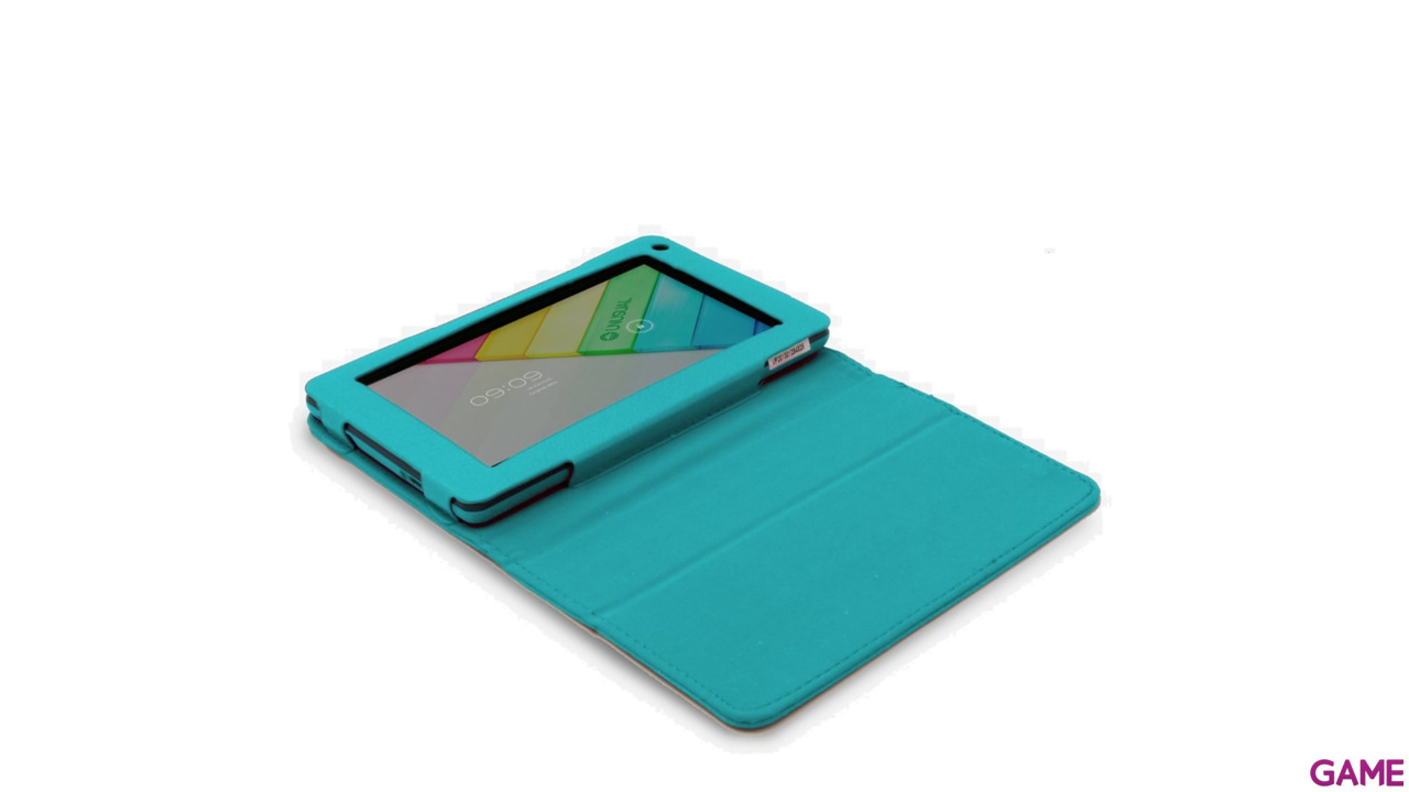 Funda Polipiel Tablet Unusual Vortex Pocket Azul