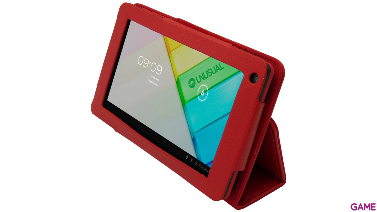 Funda Polipiel Tablet Unusual Vortex Pocket Roja