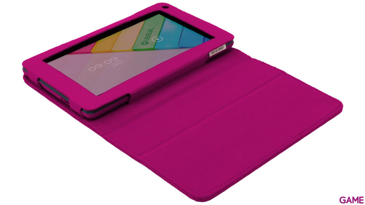 Funda Polipiel Tablet Unusual Vortex Pocket Rosa
