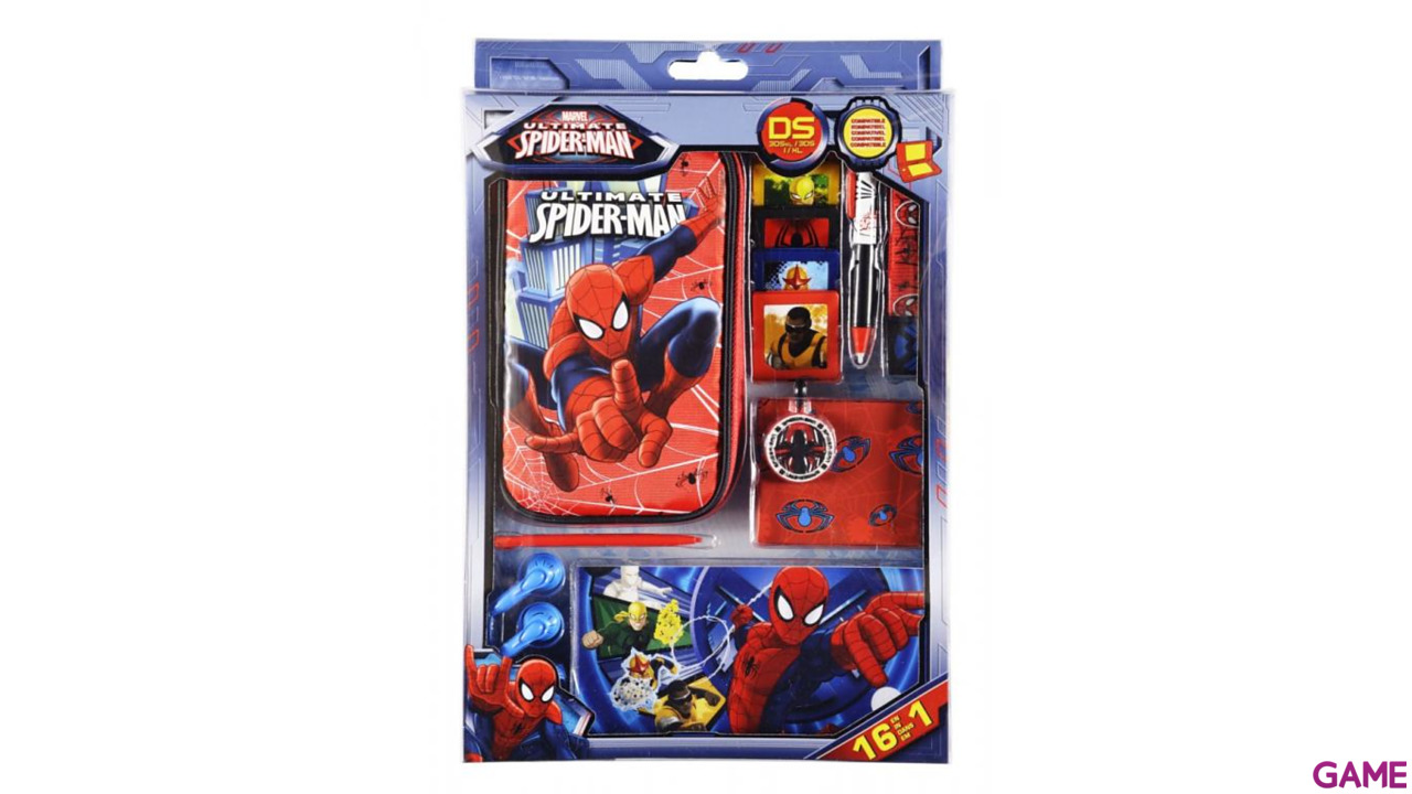 Kit Accesorios 16 en 1 Ultimate Spiderman 3DS-3DSXL