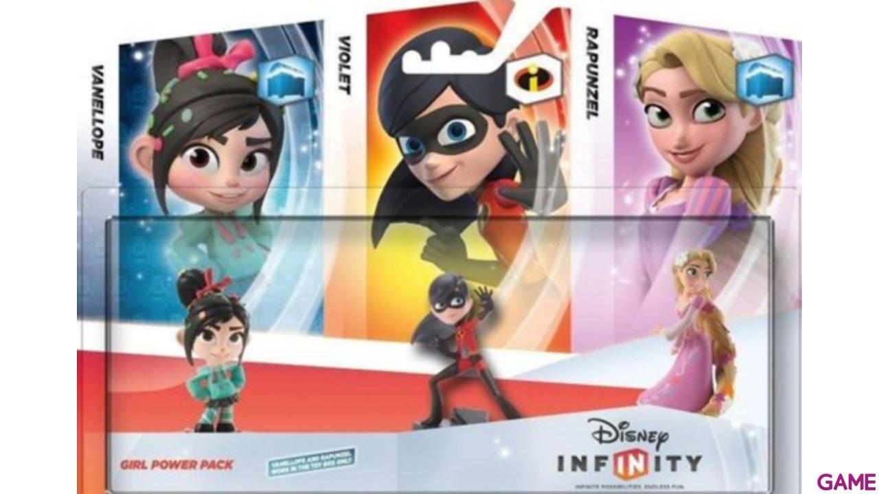 Set Infinity Chicas: Vanellope + Violeta + Rapunzel