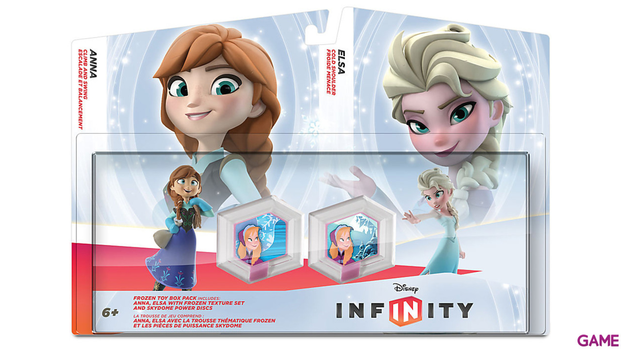 Set Infinity Frozen: Elsa + Anna + 2 Power Discs