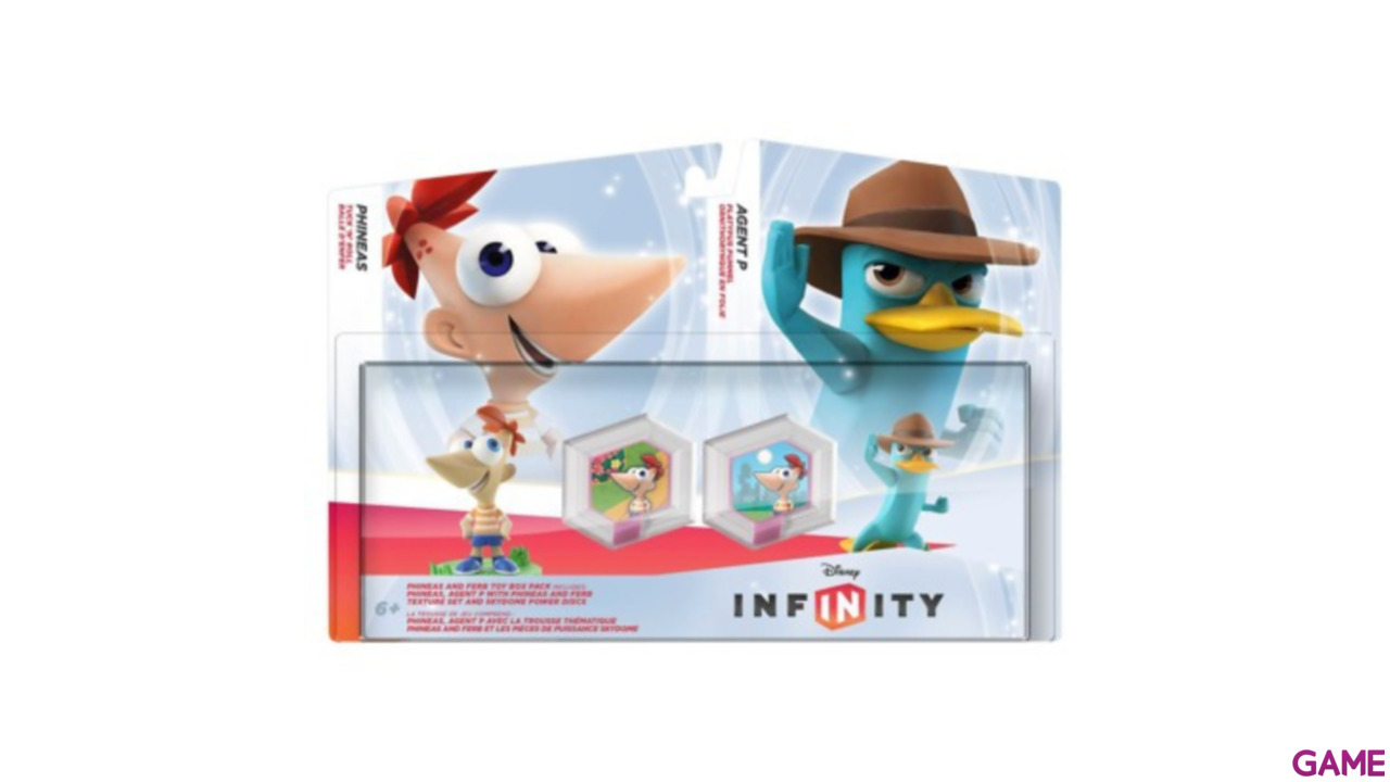 Set Infinity Phineas: Phineas + Agente P + 2 Power Discs
