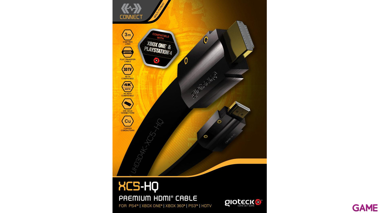Cable HDMI High Speed 4K XC-5 Gioteck