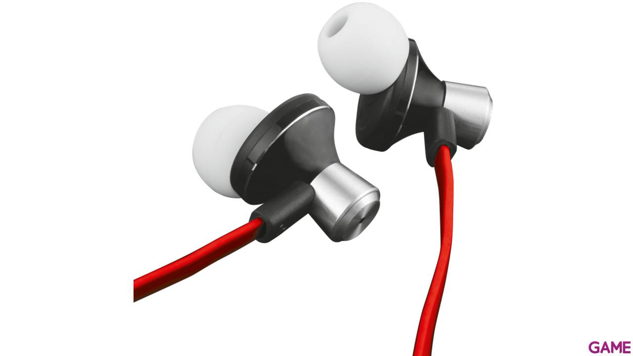 Auriculares Trust Cabo In-Ear Rojos