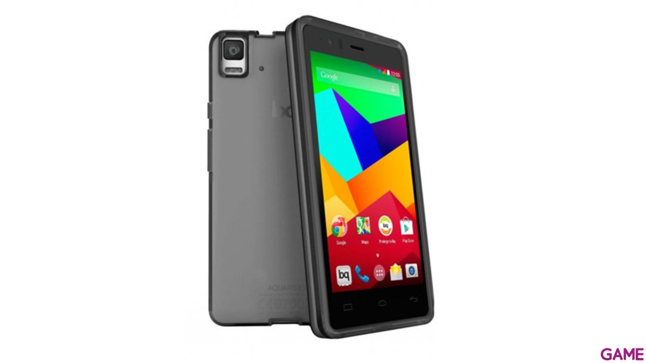 Funda Smartphone BQ Aquaris E5 Black Gummie