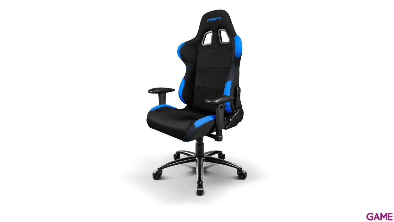 DRIFT DR100 Negro-Azul Tela - Silla Gaming