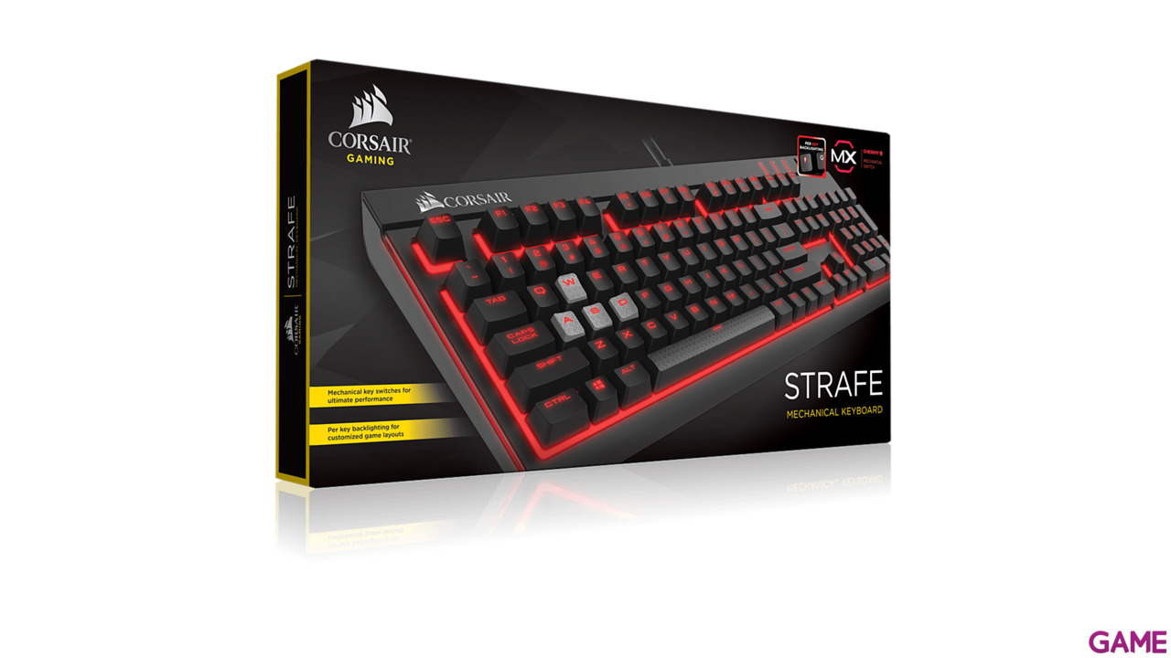 Corsair Strafe Led Rojo Cherry MX Rojo
