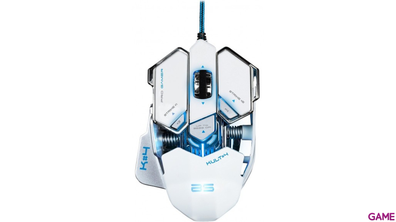 Bluestork KULT 4 Blanco - Raton Gaming